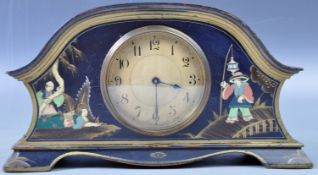 EARLY 20TH CENTURY ART DECO CHINOISERIE MANTEL CLOCK