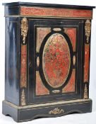 19TH CENTURY BOULLE WORK RED TORTOISESHELL PIER CABINET