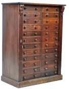 RARE 19TH CENTURY VICTORIAN PINE DOUBLE WELLINGTON CHEST OF DRAWERS