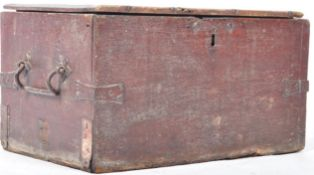 FANTASTIC 17TH CENTURY OAK AND IRON BOUND CARRIAGE / STORAGE BOX