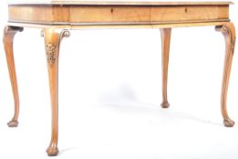 PANDER & ZONEN QUEEN ANNE REVIVAL WALNUT LIBRARY TABLE / WRITING DESK