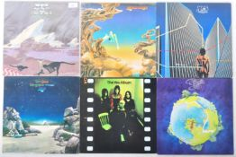YES - GROUP OF SIX VINYL RECORD ALBUMS