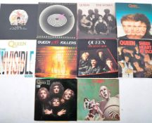 QUEEN ROCK BAND GROUP OF NINE VINYL RECORD ALBUMS