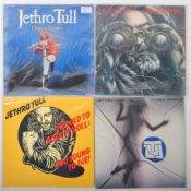 JETHRO TULL GROUP OF FOUR VINYL RECORD ALBUMS