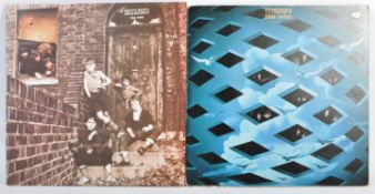 THE WHO - TWO VINYL RECORD ALBUMS TOMMY AND MEATY, BEATY, BIG & BOUNCY