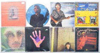 GEORGE HARRISON - GROUP OF EIGHT VINYL RECORD ALBUMS