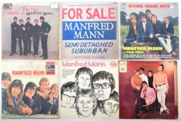 MANFRED MANN - GROUP OF SIX VINYL RECORD ALBUMS