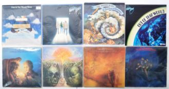 THE MOODY BLUES GROUP OF EIGHT VINYL RECORD ALBUMS