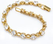 9ct Gold & Zircon Bracelet