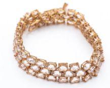 9ct Rose Gold & Morganite Bracelet