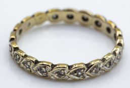 9ct Gold & Diamond Eternity RIng