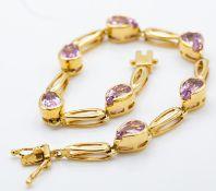 18ct Gold & Kunzite Bracelet