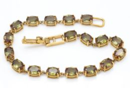 9ct Gold & Brazilian Andalusite Bracelet