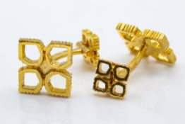 French 18ct Yellow Gold Chaumet Cufflinks