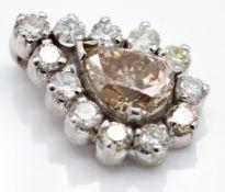 A Hallmarked 18ct Gold & Diamond Cluster Pendant
