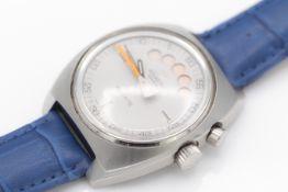 Rare 1970s Aquastar Regate Yacht Timer Wristwatch