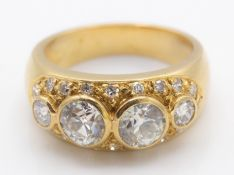 A French 18ct Gold & Diamond Ring