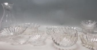 DARTINGTON CRYSTAL MOULDED GLASS BOWLS
