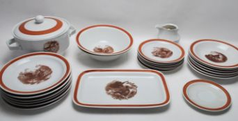 GERMAN COLDITZ ANIMAL DINNER SERVICE