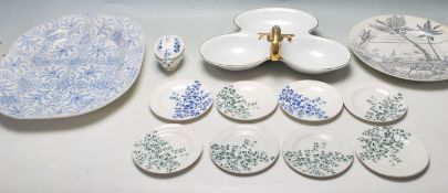 COLLECTION OF ANTIQUE 19TH CENTURY VICTORIAN CHINA