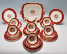 VERY RARE 20TH CENTURY AYNSLEY FINE BONE CHINA TEA SET