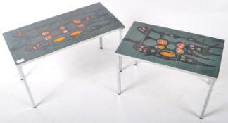 RETRO TILE TOP CHROME NEST OF TABLES