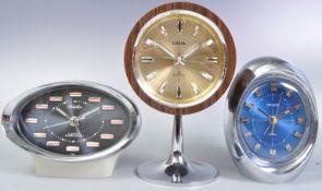 COLLECTION OF RETRO VINTAGE CLOCKS - PRESTA ETC
