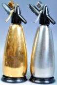 BOC SPARKLETS PAIR OF SODA SIPHONS IN GOLD AND SILVER