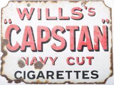 WILLS'S CAPSTAN NAVY CUT CIGARETTES ENAMEL SHOP SIGN