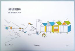 ATANG TSHIKARE - SIGNED AND NUMBERED PRINT ENTITLED MUIZENBERG