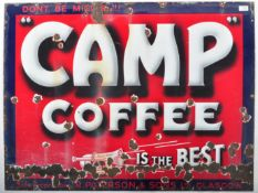 CAMP COFFEE - GLASGOW - ORIGINAL ENAMEL ADVERTISING SIGN