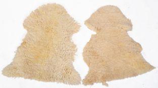 PAIR OF 1960'S SHEEPSKIN FLOOR RUGS
