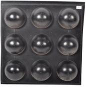 RETRO VINTAGE BLACK MOULDED PLASTIC WALL MODULAR ART PANEL
