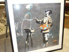 After Banksy, 'Banksy in Victoria Park, Framed', a coloured print, a coloured print titled '