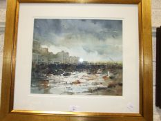David Norman, 'Torquay', a signed watercolour, 30 x 36cm and another, Arthur Watson 'Quarry Face,