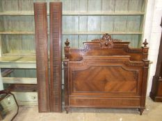 A 19th century French rosewood 4ft 6in bed.