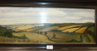 Lucy Evans, 'Helford River, Cornwall', oil on board, signed with initials, inscribed verso and
