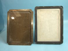 A rectangular photograph frame with clipped corners, 20 x 15cm, Birmingham 1925 and another, 21 x