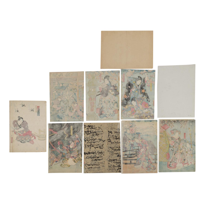 Lot 1154 - Zehn Farbholzschnitte. JAPAN, 18./19. Jh..