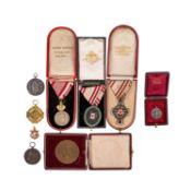 9 Auszeichnungen und Medaillen, Deutschland, Österreich-Ungarn, Italien 19./20.Jh. -<