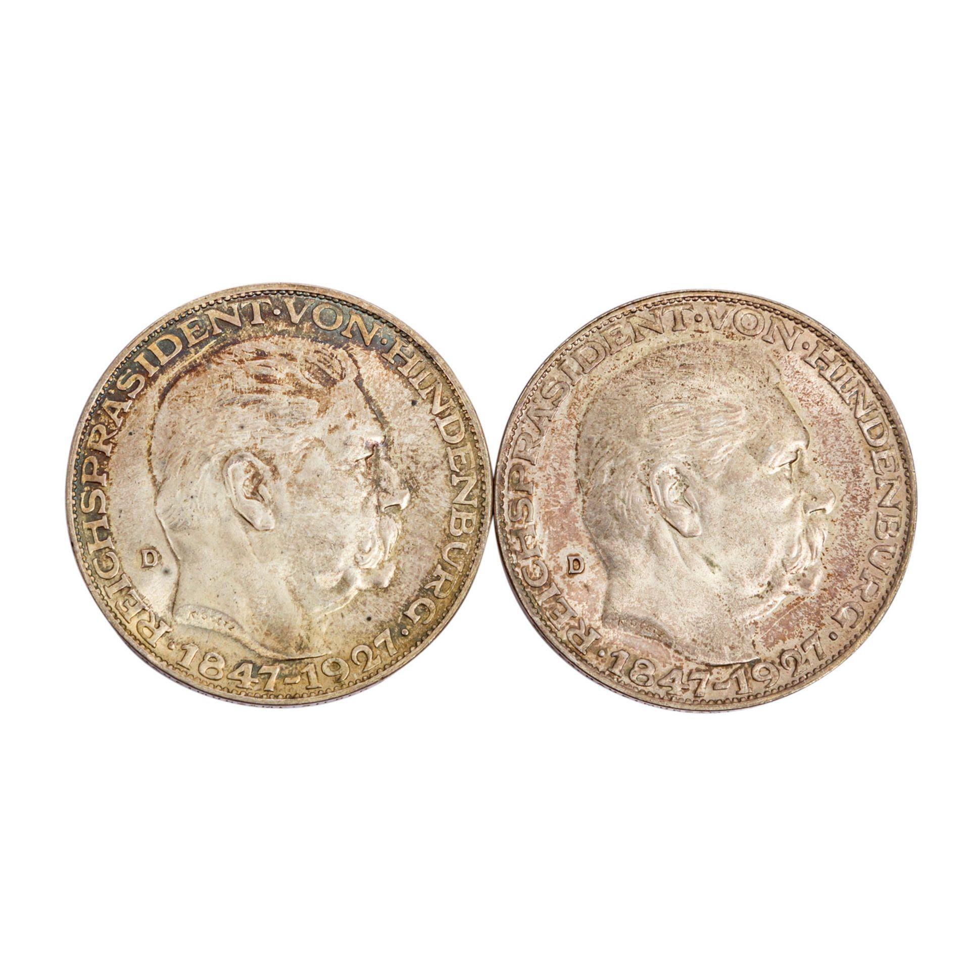 2 Silbermedaillen aus der Weimarer Republik -