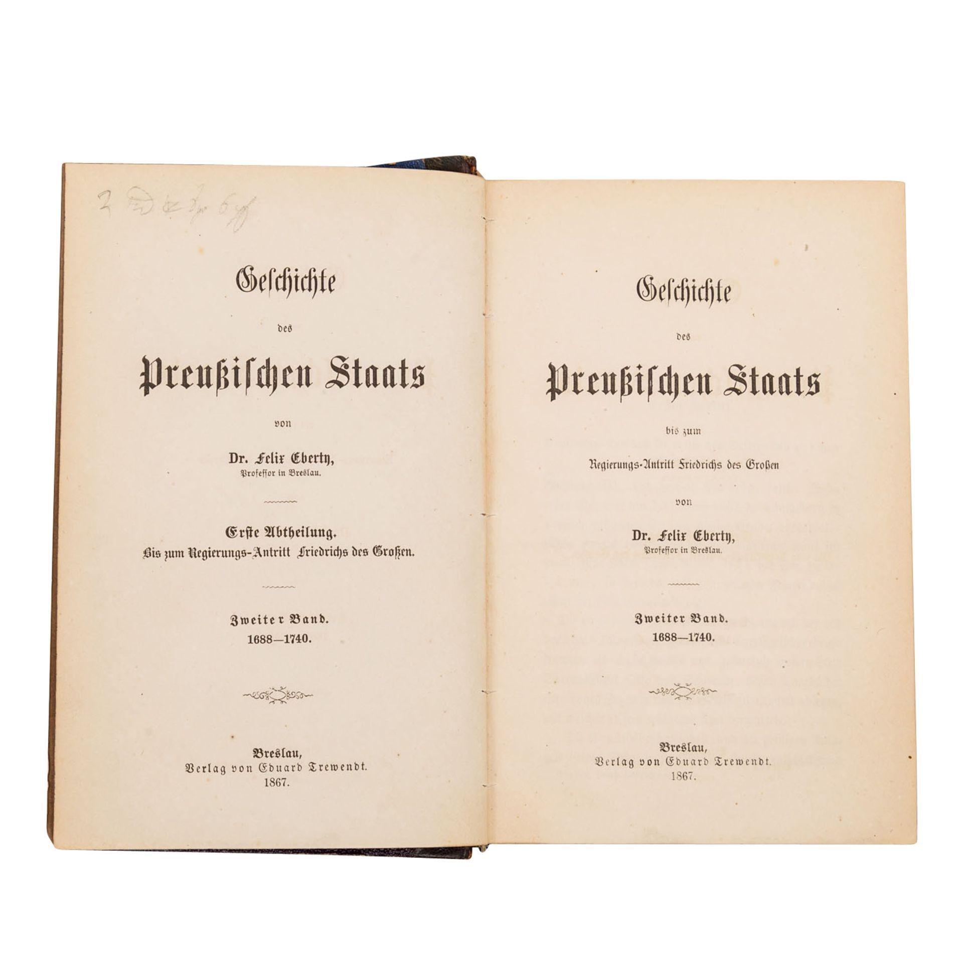 Mit Autograph des Verfassers! Geschichte des Preußischen Staats - Bild 2 aus 2