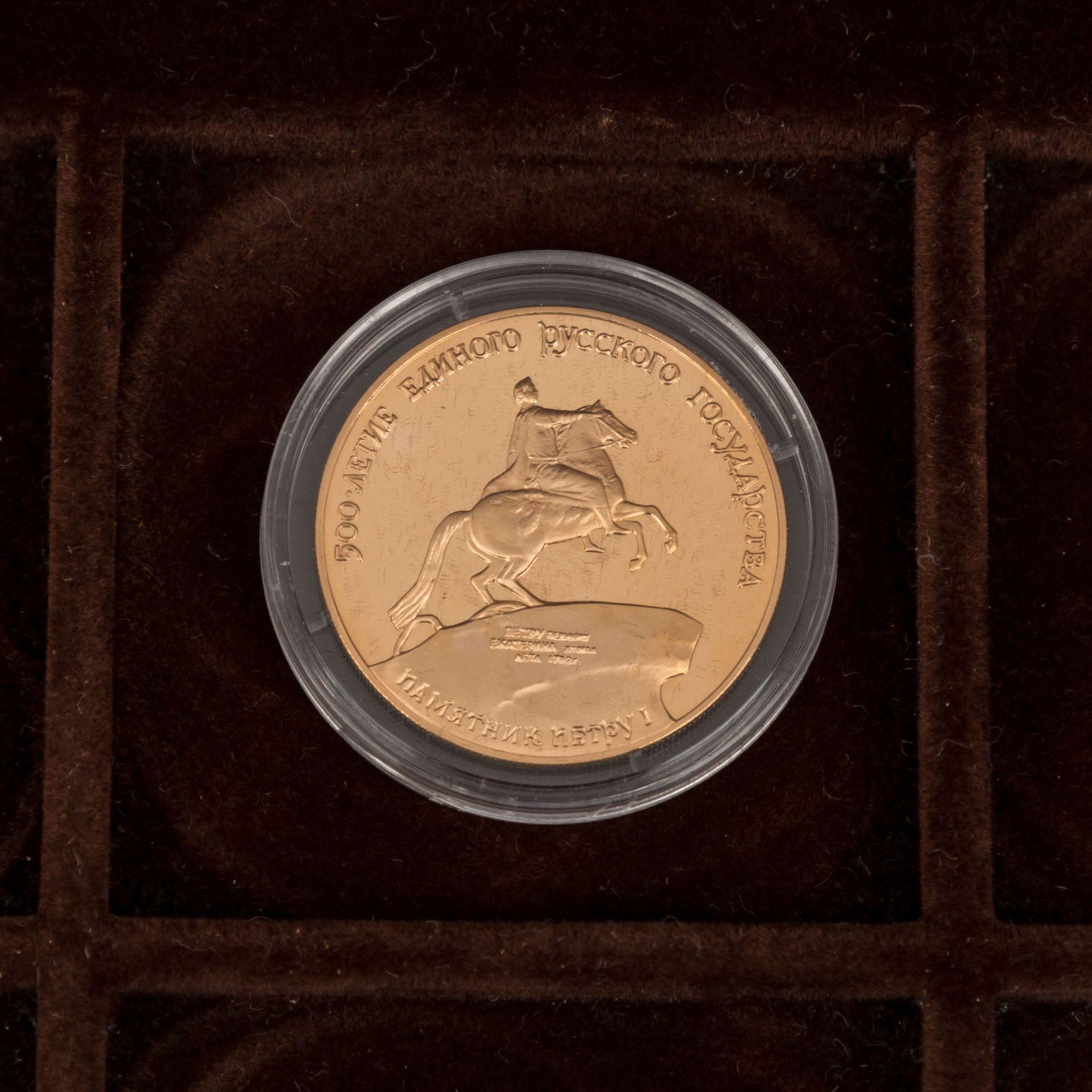 GOLDSCHATZ ca. 83 g fein, Holzkiste bestehend aus - Bild 3 aus 9