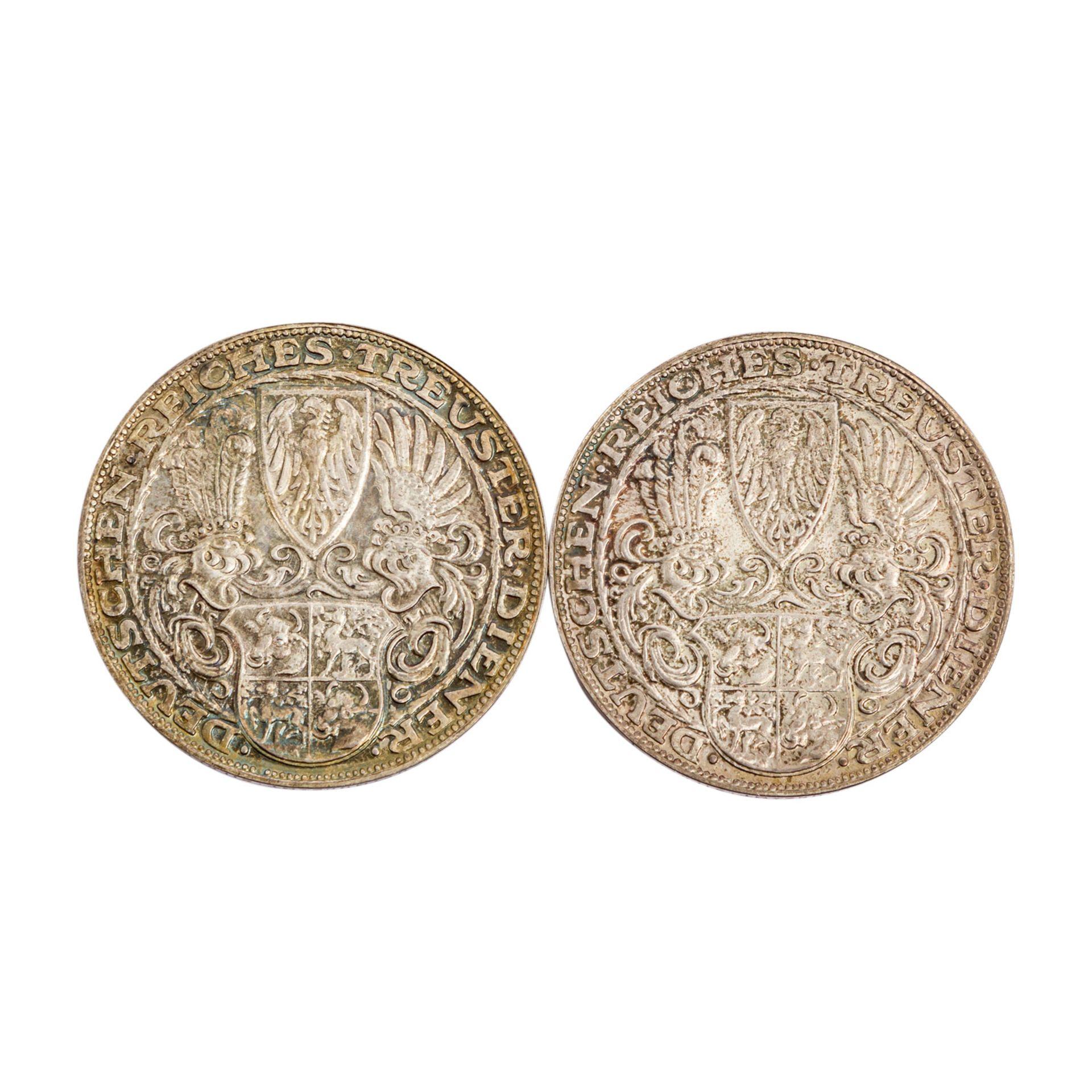 2 Silbermedaillen aus der Weimarer Republik - - Bild 2 aus 2
