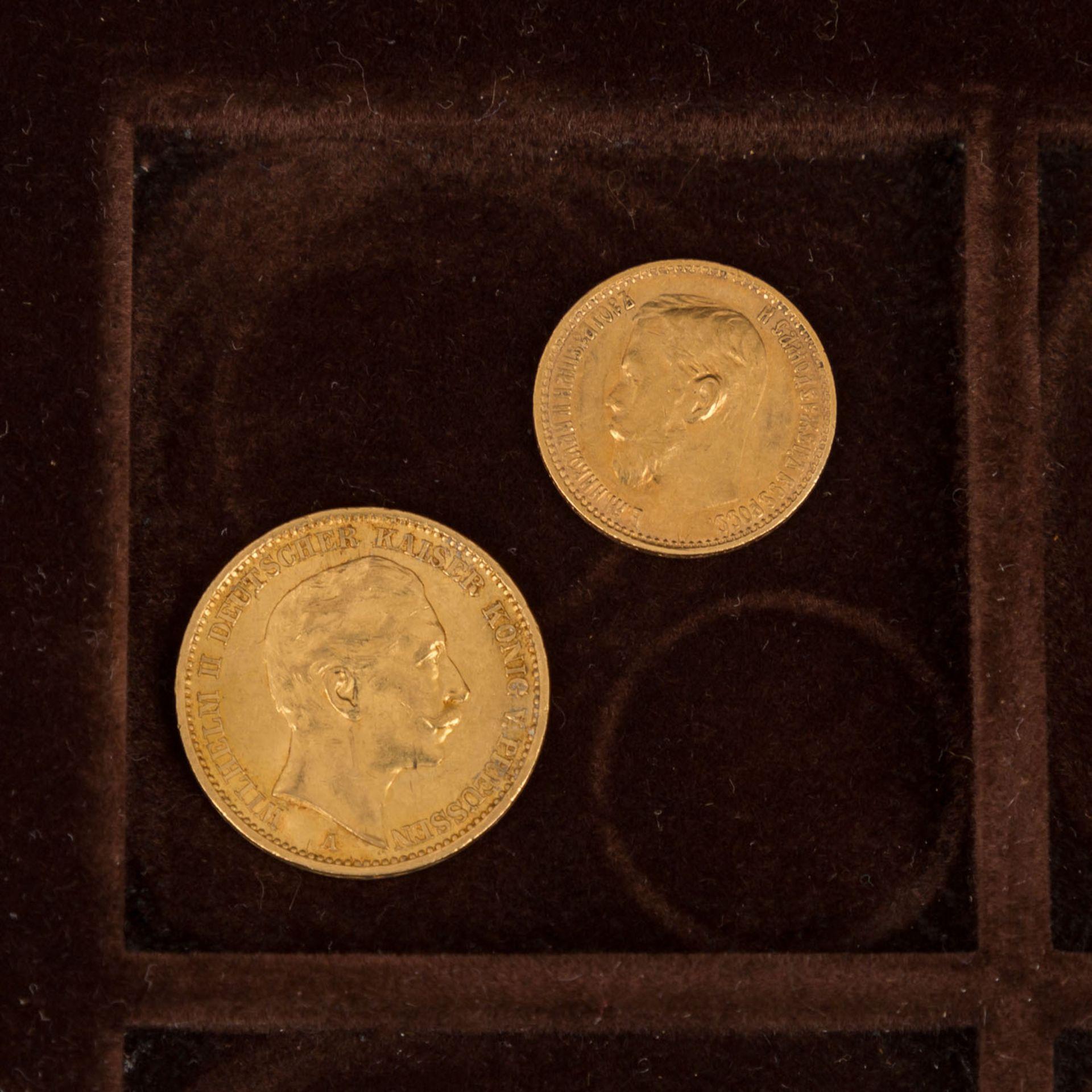 GOLDSCHATZ ca. 83 g fein, Holzkiste bestehend aus - Bild 8 aus 9