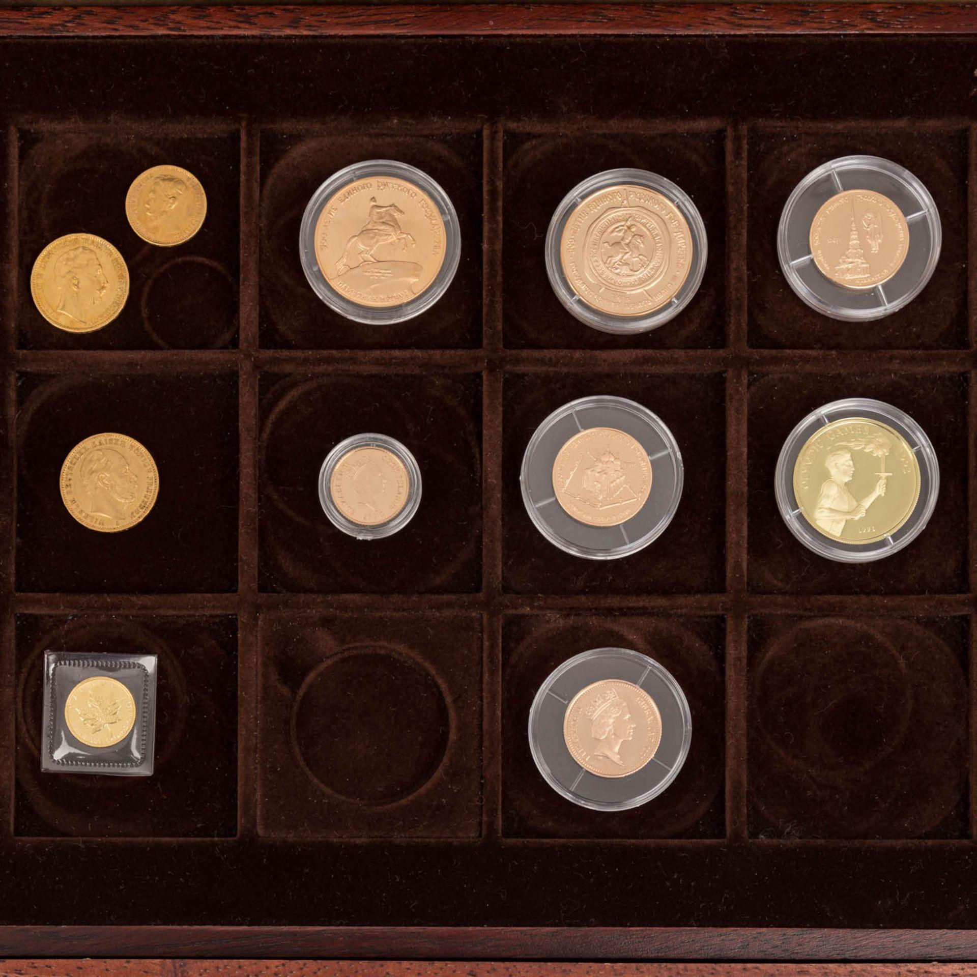 GOLDSCHATZ ca. 83 g fein, Holzkiste bestehend aus - Bild 2 aus 9