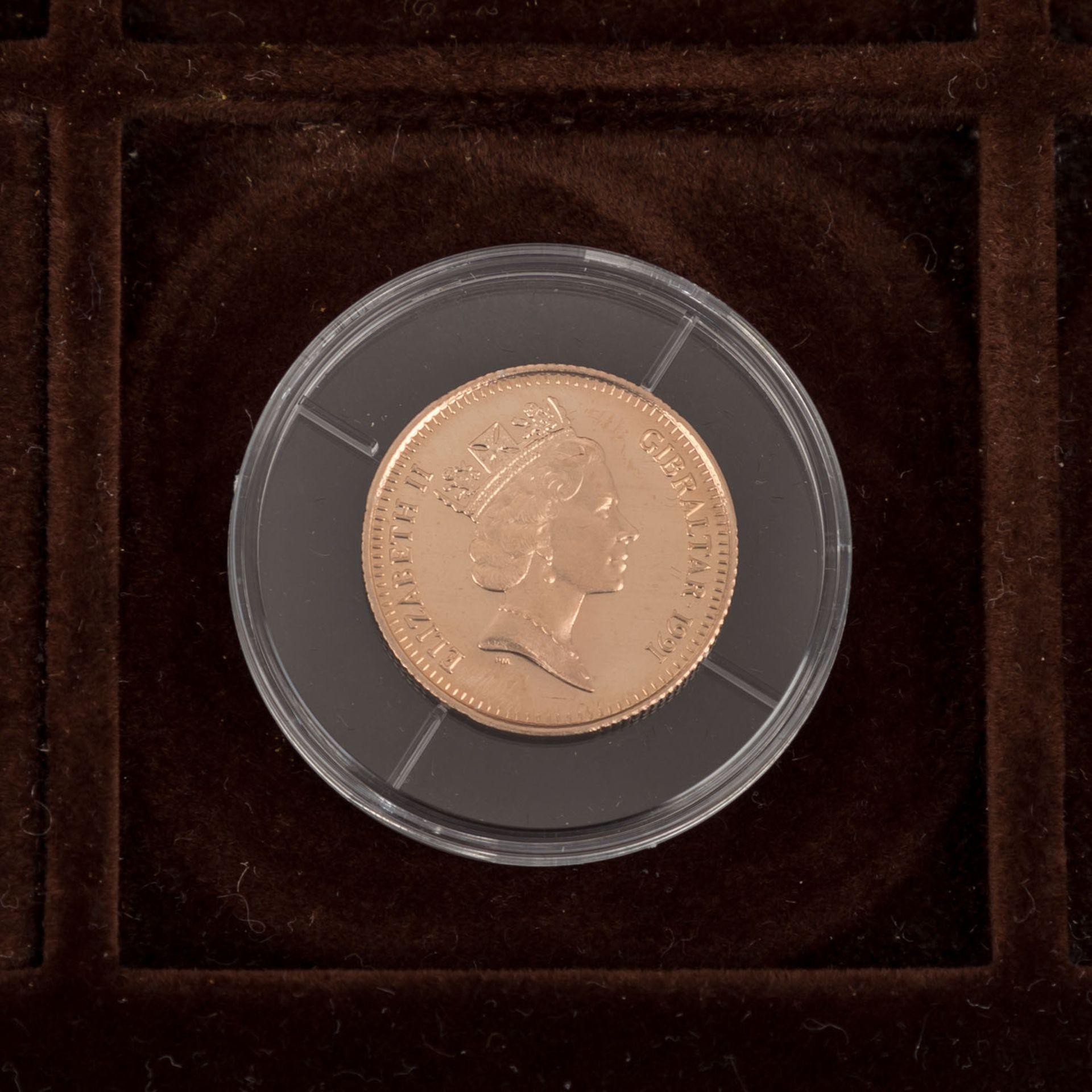 GOLDSCHATZ ca. 83 g fein, Holzkiste bestehend aus - Bild 7 aus 9