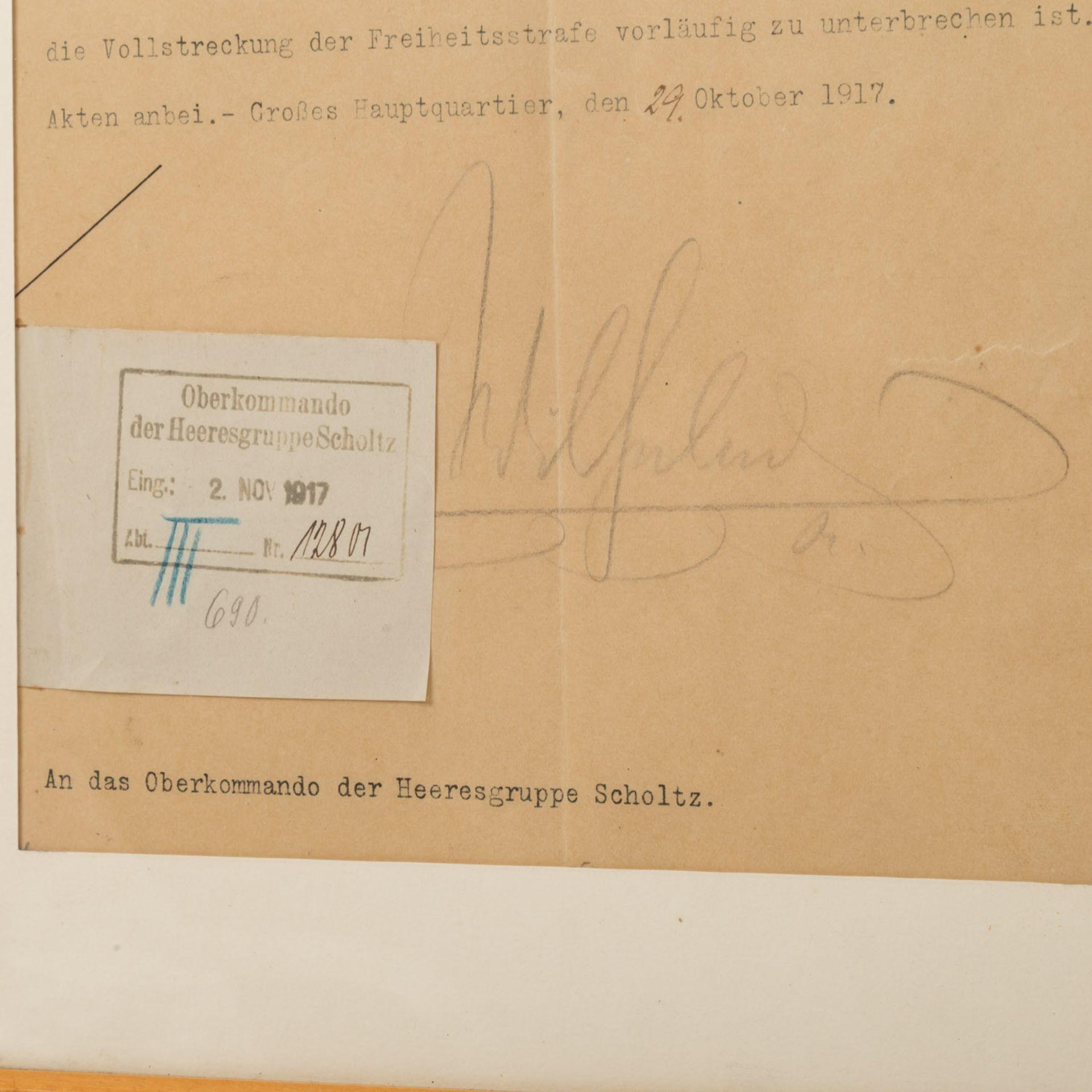 Kaiser Wilhelm II - Typoskript mit Unterschrift - Bild 2 aus 3