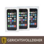 DREI APPLE iPhone 5s SPACE GRAY IN UNGEÖFFNETER OVP<
