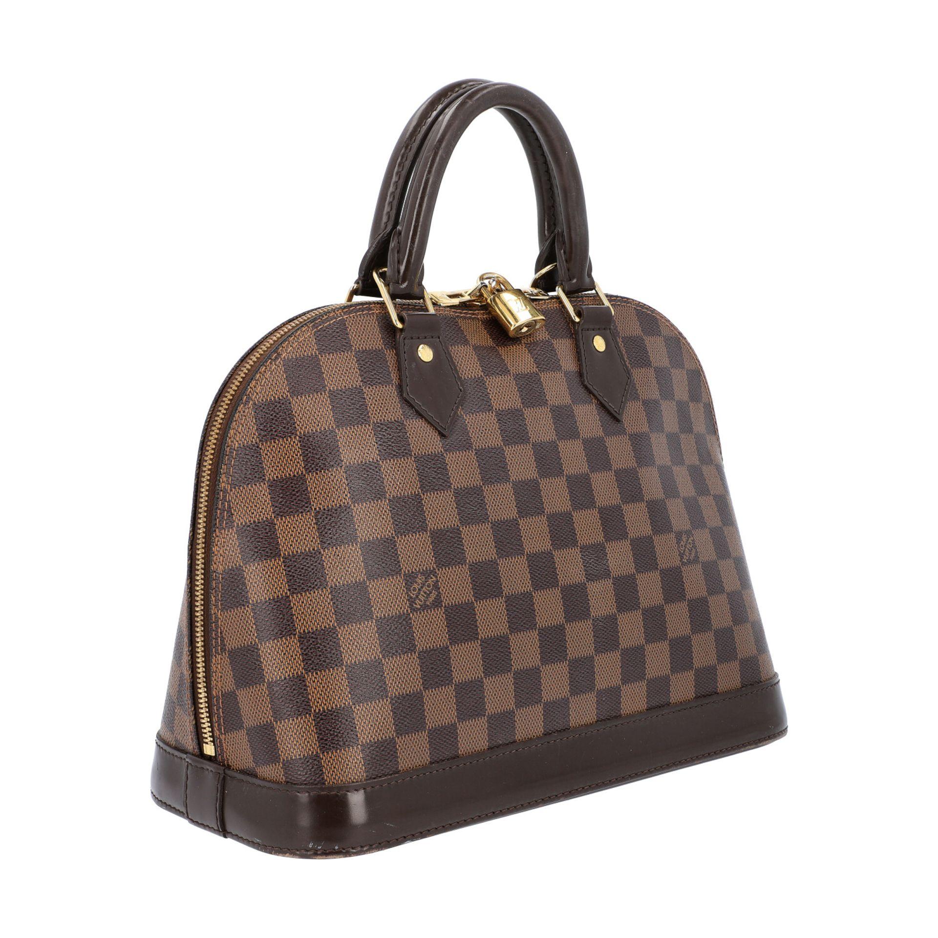 """LOUIS VUITTON Handtasche """"ALMA PM"""", Koll. 2010.Akt. NP.: 1.250,-€. Damier Ebene Serie mit - Bild 2 aus 8"""